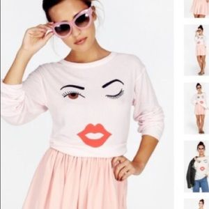WILDFOX wink graphic thermal top